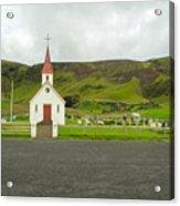 Church At Vik I Myrdal Iceland Acrylic Print