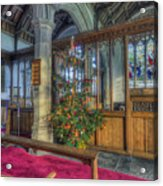 Church Christmas Tree Acrylic Print