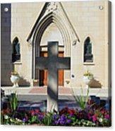 Church Entrance Cross Acrylic Print