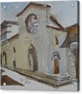 Church Facade Acrylic Print