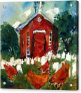 Church Hens Acrylic Print