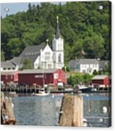 Church In Boothbay Acrylic Print