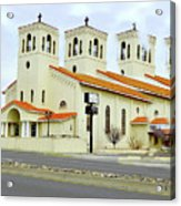 Church In New Mexico Multiplied Acrylic Print
