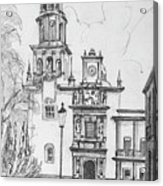 Church In Queretaro, Mx Acrylic Print