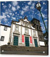 Church In Ribeira Grande Acrylic Print