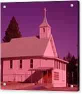 Church In Spirit Lake Idaho  Acrylic Print