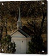 Church In The Garden Acrylic Print