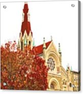 Church Next Door Acrylic Print