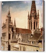 Church Of Notre-dame Of Dijon France - Remastered Acrylic Print