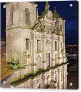 Church Of Saint Lawrence By Night In Porto Acrylic Print