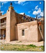 Church Of San Jose De Gracia In Las Trampas New Mexico Acrylic Print