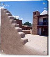 Church Of Taos Pueblo New Mexico Acrylic Print
