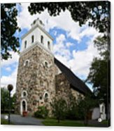 Church Of The Holy Cross At Rauma Acrylic Print