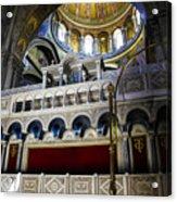 Church Of The Holy Sepulchre Interior Acrylic Print