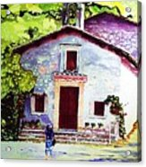 Church Of The Roses Italy Acrylic Print