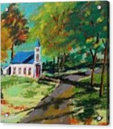 Church On The Bend Landscape Acrylic Print by John Williams