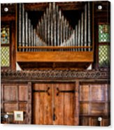 Church Organ Acrylic Print