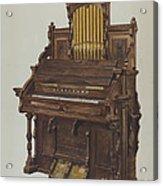 Church Organ Acrylic Print