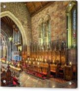 Church Organist Acrylic Print
