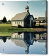 Church Reflection Acrylic Print