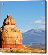 Church Rock Utah Acrylic Print