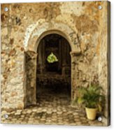 Church Ruins At El Rosario, Sinaloa Acrylic Print