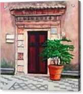 Church Side Door - Taormina Sicily Acrylic Print