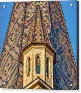Church Spire Details - Romania Acrylic Print