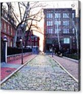 Church Street Cobblestones - Philadelphia Acrylic Print by Bill Cannon
