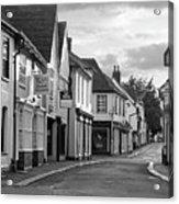 Church Street Sawbridgeworth In Black And White Acrylic Print