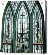 Church Window Acrylic Print
