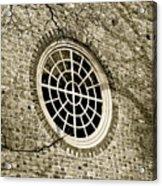 Church Window And Shadows 2 Acrylic Print