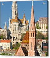 Churches In Budapest Hungary Acrylic Print