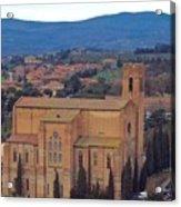 Churches Of Sienna Acrylic Print