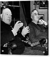 Churchill & Roosevelt Acrylic Print by Granger