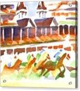 Churchill Downs Watercolor Acrylic Print