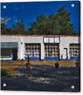 Churton St Blue Acrylic Print