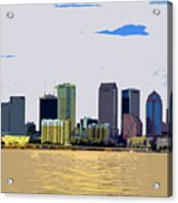 Cigar City Skyline Acrylic Print
