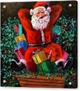Cigar Santa Acrylic Print