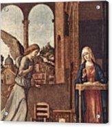Cima Da Conegliano The Annunciation Acrylic Print