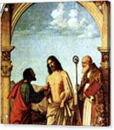 Cima Da Conegliano The Incredulity Of St Thomas With St Magno Vescovo Acrylic Print