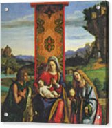 Cima Da Conegliano The Madonna And Child With St John The Baptist And Mary Magdalen Acrylic Print
