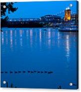Cincinnati Belle Suspension Bridge Acrylic Print