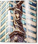 Cincinnati Fountain Genius Of Water By Tyler Davidson  Acrylic Print by Paul Velgos