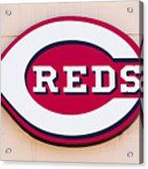Cincinnati Reds Logo Sign Acrylic Print by Paul Velgos