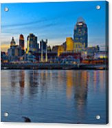 Cincinnati Skyline Across The Ohio River Acrylic Print