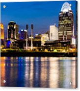 Cincinnati Skyline At Night  Acrylic Print by Paul Velgos