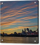Cincinnati Sunset Acrylic Print