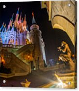 Cinderella And Her Castle Acrylic Print