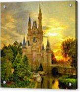 Cinderella Castle - Monet Style Acrylic Print